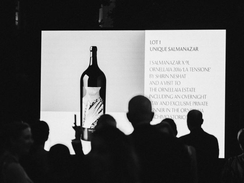 Ornellaia Vendemmia d'Artista Shirin Neshat Sotheby's Wine Palazzo Venier Guggenheim