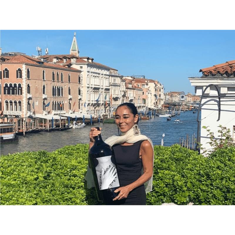 Shirin Neshat terrace- Ornellaia Vendemmia d'Artista Sotheby's Wine Palazzo Venier Guggenheim Winaesthetic